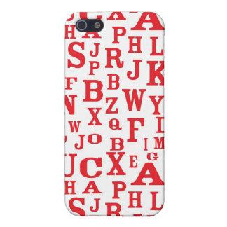 Rotes Alphabet beschriftet Fall des Muster-iPhone4 iPhone 5 Schutzhülle