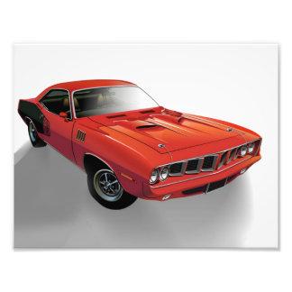 Rotes amerikanisches Muskelauto Kunst Foto