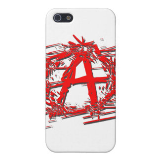 Rotes Anarchie-Symbol iPhone 5 Case