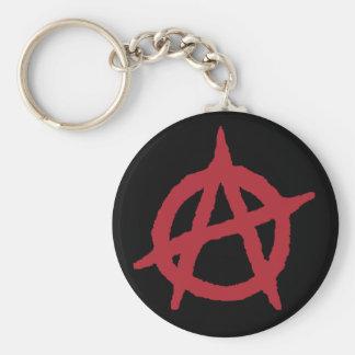 Rotes Anarchie-Symbol Schlüsselanhänger