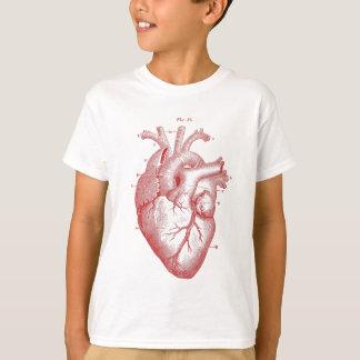 Rotes anatomisches Herz T-Shirt