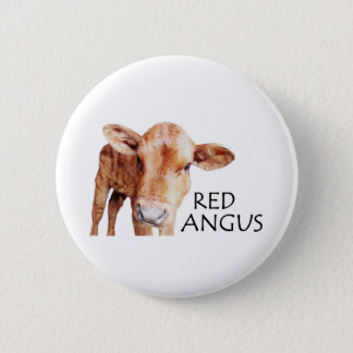 Rotes Angus Runder Button 5,7 Cm