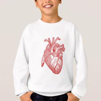 Rotes antikes anatomisches Herz Sweatshirt