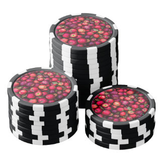 Rotes Apfel-Fruchtmuster Poker Chips Set