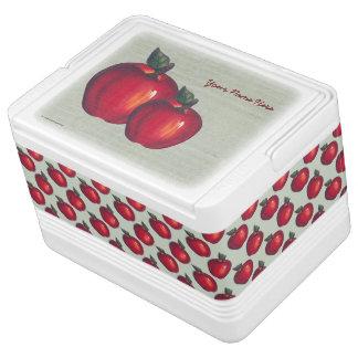 Rotes Apfel-Grün Igloo Kühlbox