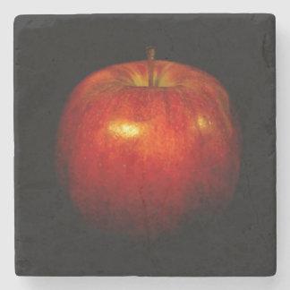 Rotes Apple 2 Steinuntersetzer