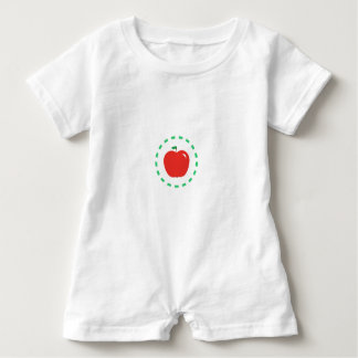 Rotes Apple Baby Strampler