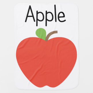 Rotes Apple Babydecke