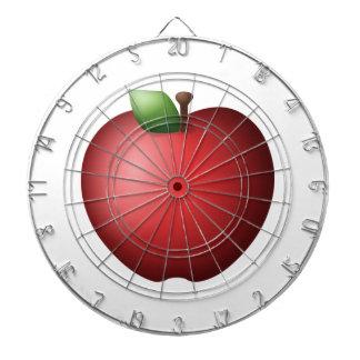Rotes Apple - Emoji Dartscheibe
