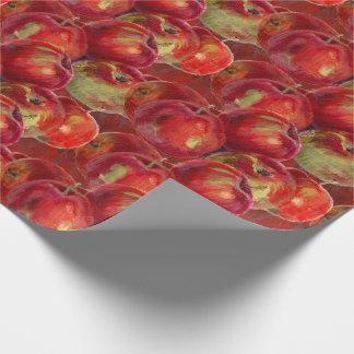 Rotes Apple ernten Geschenkpapier