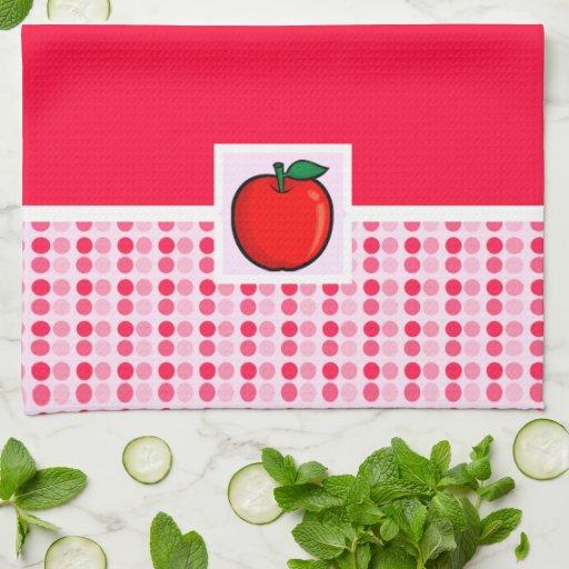 Rotes Apple Küchenhandtuch