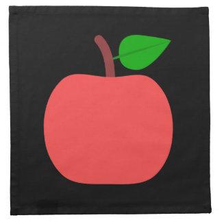 Rotes Apple Stoffserviette