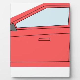 Rotes Auto Fotoplatte