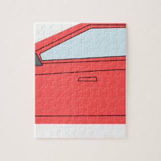 Rotes Auto Puzzle