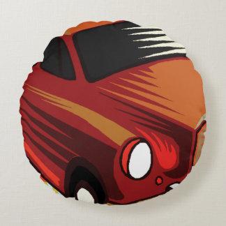 rotes Auto und Popsicles Rundes Kissen