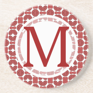 Rotes aztekisches Muster Getränkeuntersetzer