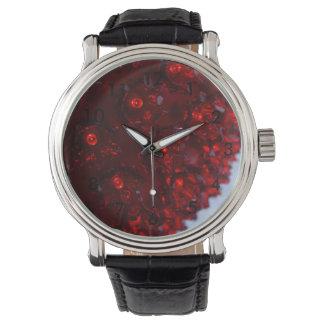 Rotes Ball-Licht Armbanduhr