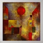 Rotes Ballon-Plakat Paul Klees Poster
