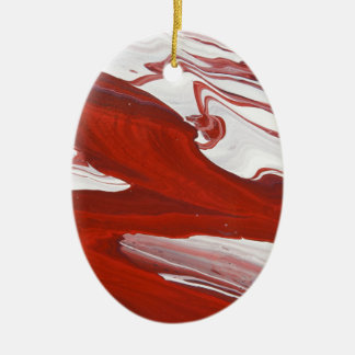 Rotes Band Keramik Ornament