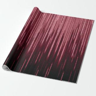 Rotes binäres Regen-Packpapier Geschenkpapier