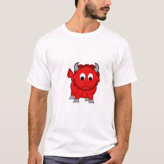 Rotes Bison-Shirt T-Shirt