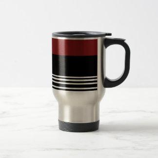 Rotes /Black/-Silber > Kaffee-Reise-Tasse