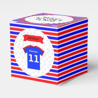 rotes Blau des 11. Geburtstags-Party-individuellen Geschenkschachtel