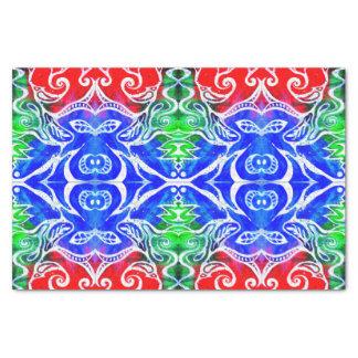 Rotes Blau des weißes Gekritzel-abstraktes Seidenpapier