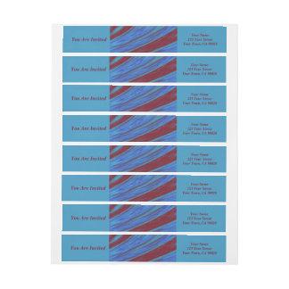 Rotes Blau-FarbSwish abstrakt