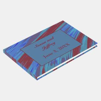 Rotes Blau-FarbSwish abstrakt Gästebuch