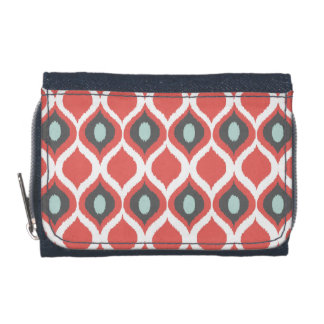 Rotes blaues Grau geometrisches Ikat Stammes-
