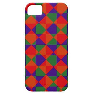 Rotes blaues Grün-Karo-Muster iPhone 5 Cover
