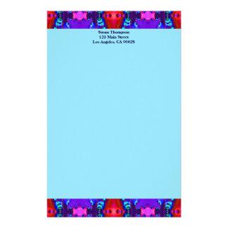 rotes blaues Muster des Türkises Personalisierte Druckpapiere