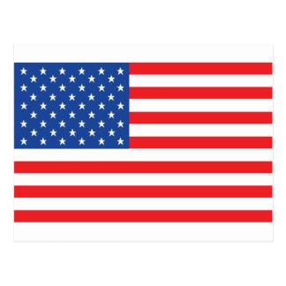 rotes blaues Weiß amerikanischer USA-Flagge Postkarten