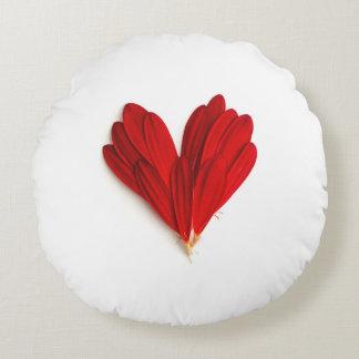 Rotes Blumen-Blumenblatt-Herzrundes Throw-Kissen Rundes Kissen