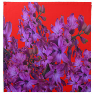 ROTES Blumengeschenk der Amethyst lila Hyazinthe Serviette