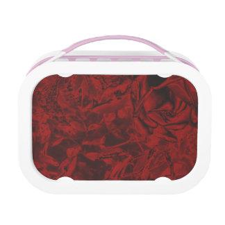 Rotes Blumenmuster Brotdose