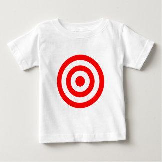 Rotes Bullaugen-Ziel Baby T-shirt