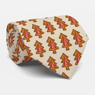 Rotes Buntglas-Weihnachtsbaum-Feiertags-Plätzchen Krawatte