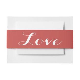 Rotes Burgunder-Liebe Wedding Einladungsbanderole