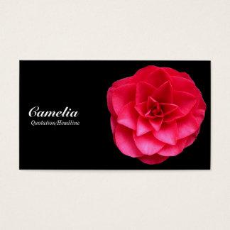 Rotes Camelia - schwarz und dunkelgrau Visitenkarte