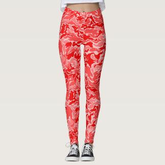 Rotes Camouflage-Tarnungs-Muster Leggings