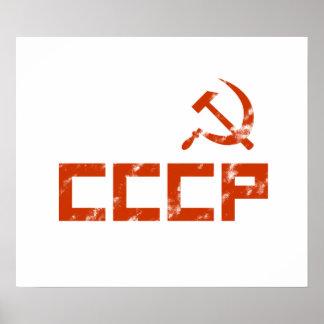Rotes CCCP Hammer und Sichel Poster