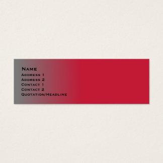 Rotes Chrom dünn Mini Visitenkarte