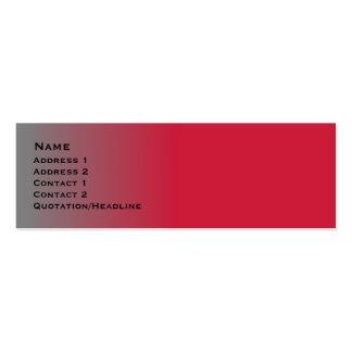 Rotes Chrom dünn Mini-Visitenkarten