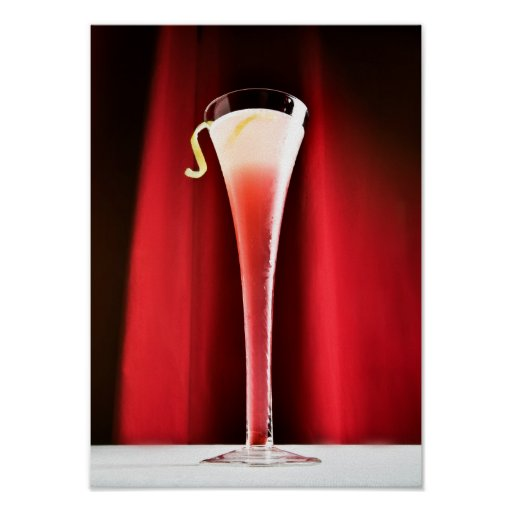 Rotes Cocktail Plakate