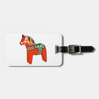 Rotes Dala Pferd Adress Schild
