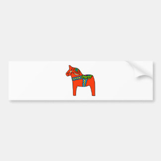 Rotes Dala Pferd Autoaufkleber
