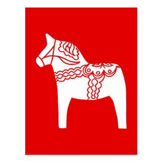 Rotes Dala Pferd Postkarten