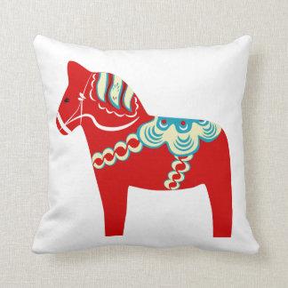Rotes Dala PferdeWurfs-Kissen Kissen